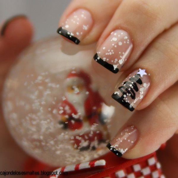50 christmas nail art designs - 50 Festive Christmas Nail Art Designs