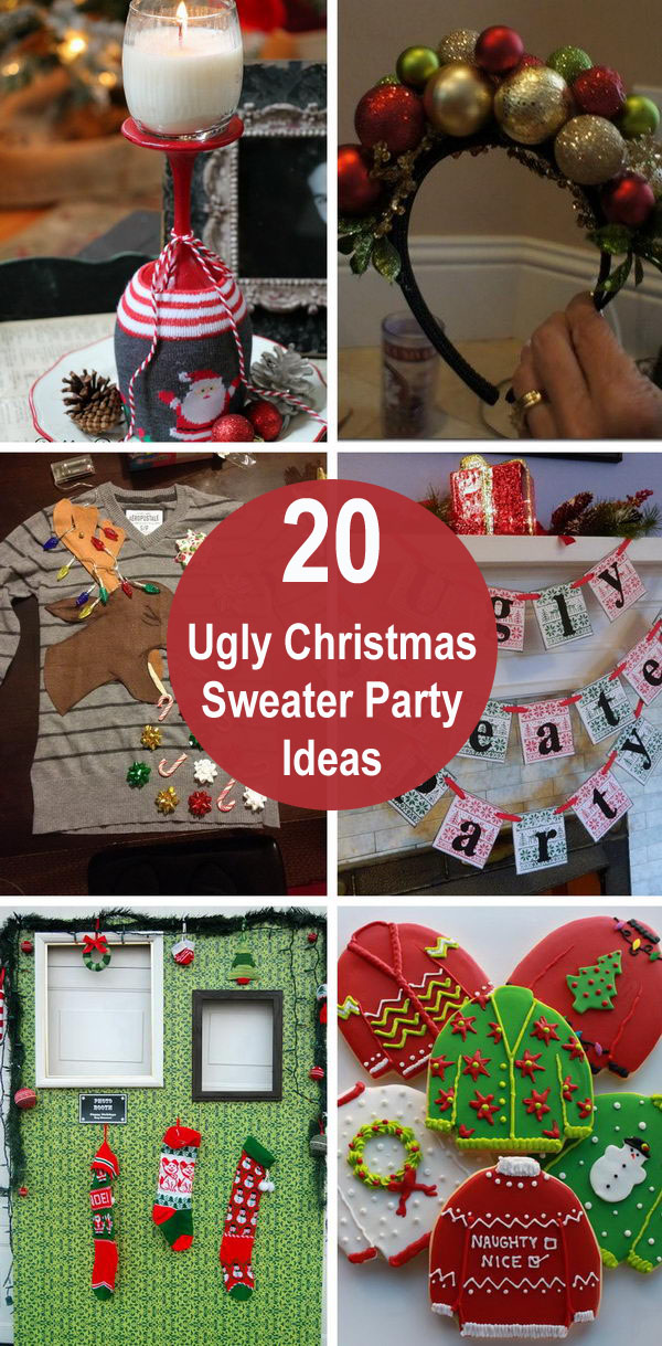 ugly christmas sweater party ideas - 20 Ugly Christmas Sweater Party Ideas
