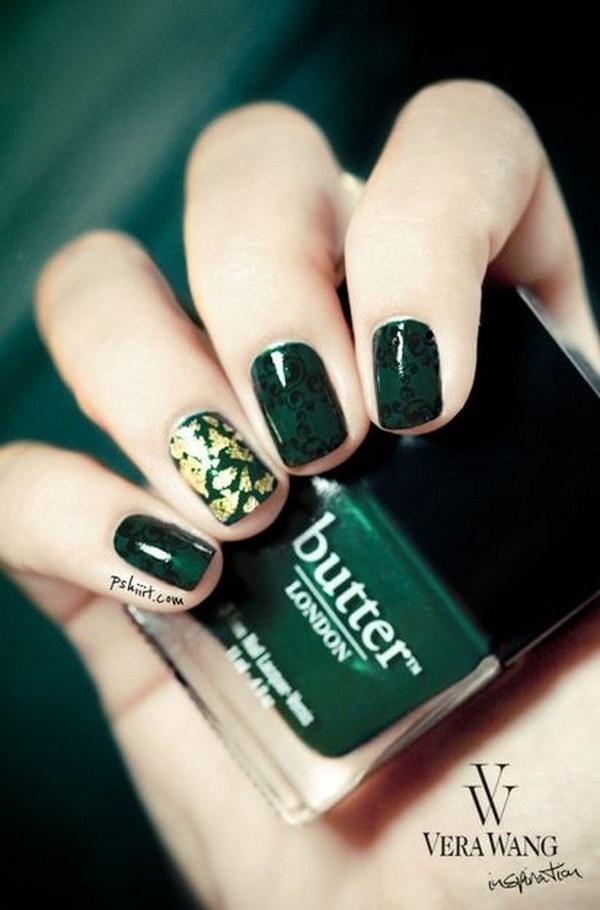 102 green nail art designs - 100+ Awesome Green Nail Art Designs