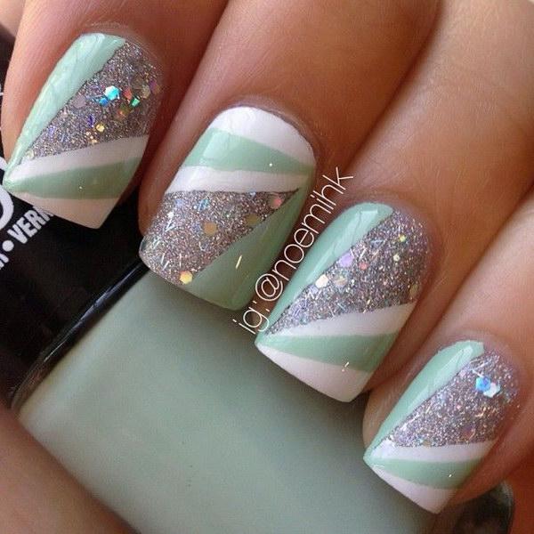 11 green nail art designs - 100+ Awesome Green Nail Art Designs