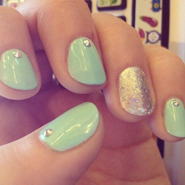 18 green nail art designs - 100+ Awesome Green Nail Art Designs