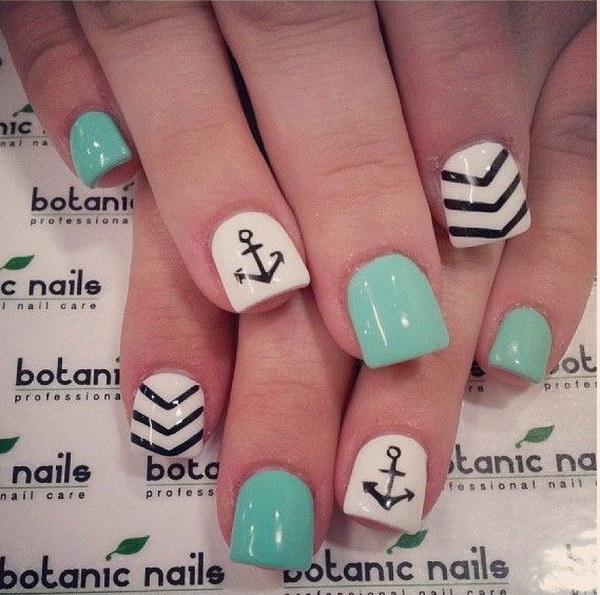 27 green nail art designs - 100+ Awesome Green Nail Art Designs