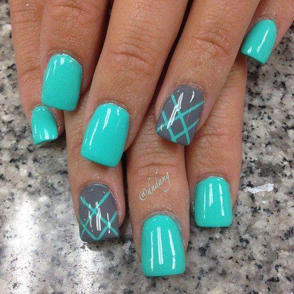 30 green nail art designs - 100+ Awesome Green Nail Art Designs