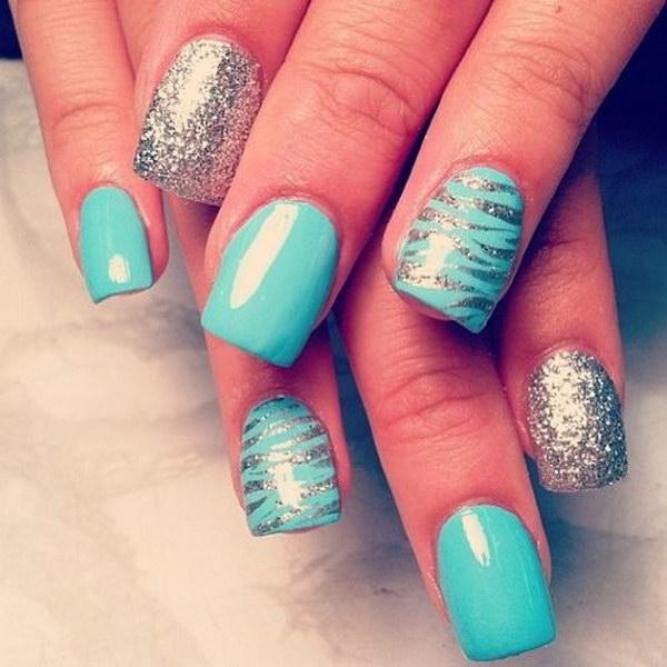 34 green nail art designs - 100+ Awesome Green Nail Art Designs