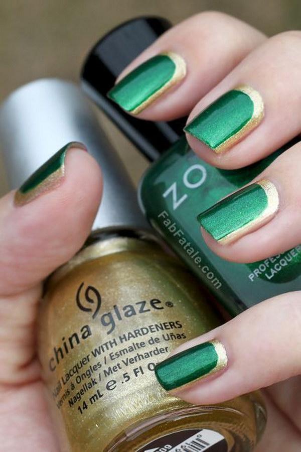 37 green nail art designs - 100+ Awesome Green Nail Art Designs