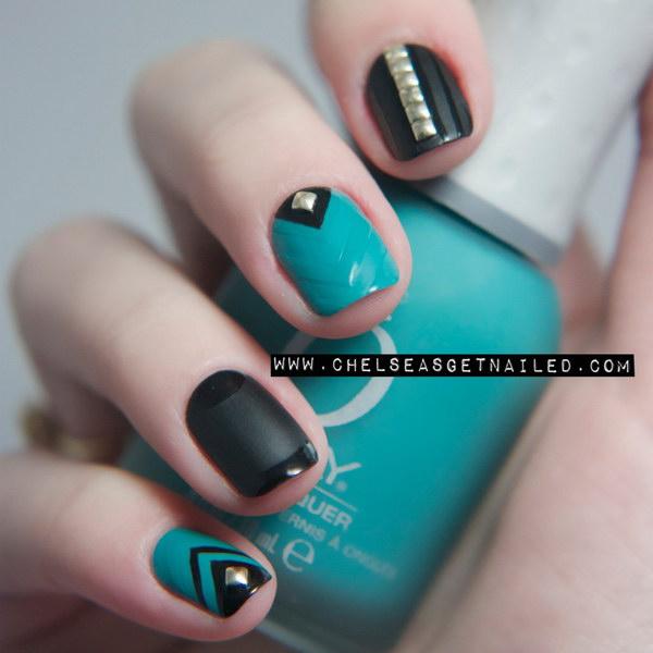 38 green nail art designs - 100+ Awesome Green Nail Art Designs