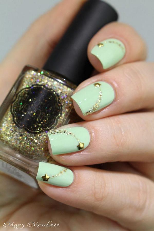 40 green nail art designs - 100+ Awesome Green Nail Art Designs