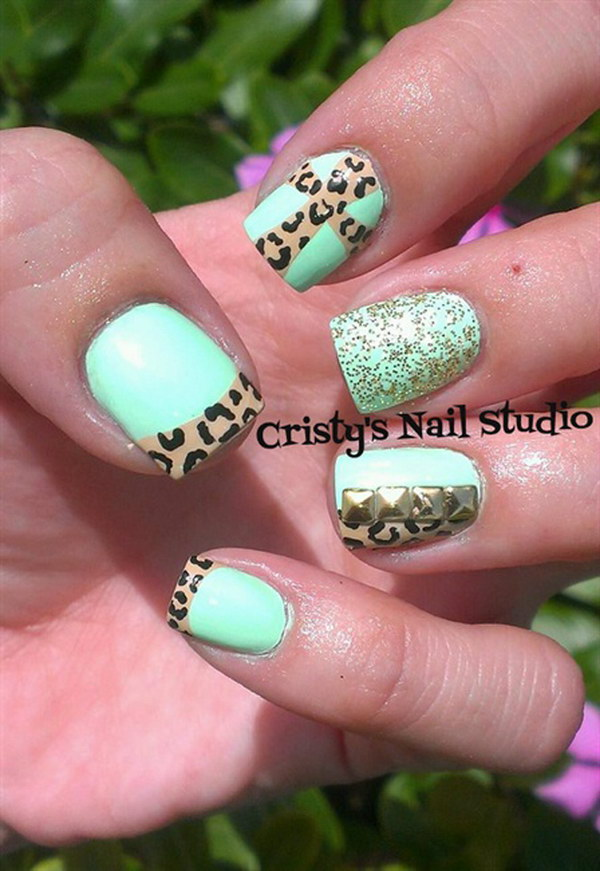 55 green nail art designs - 100+ Awesome Green Nail Art Designs