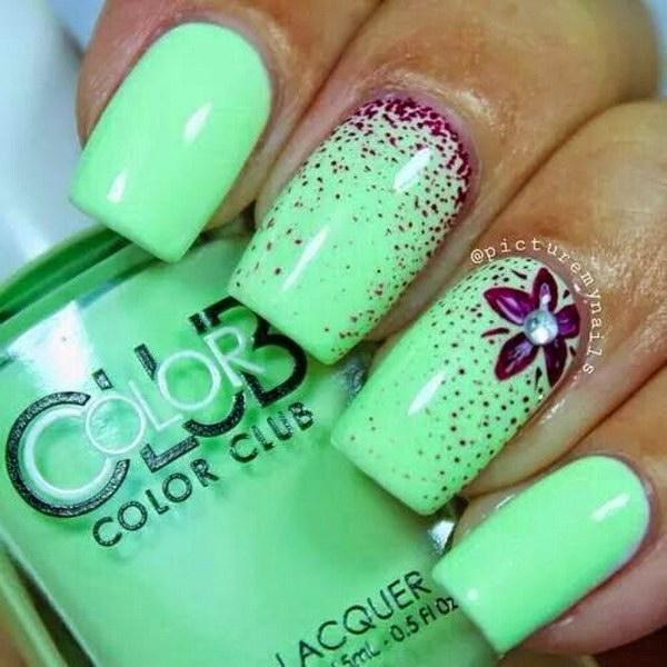 57 green nail art designs - 100+ Awesome Green Nail Art Designs
