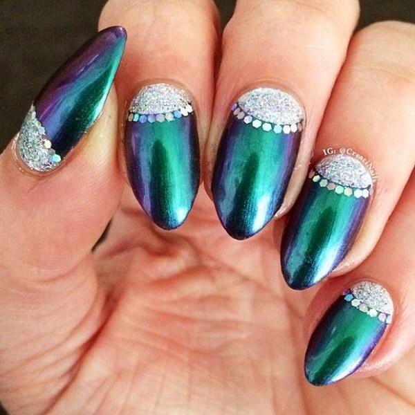 6 green nail art designs - 100+ Awesome Green Nail Art Designs