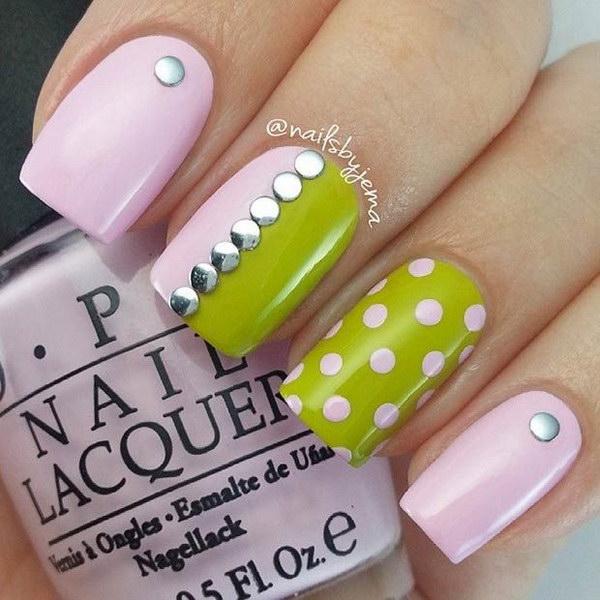 65 green nail art designs - 100+ Awesome Green Nail Art Designs