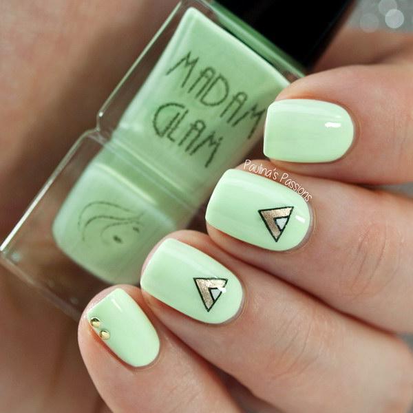73 green nail art designs - 100+ Awesome Green Nail Art Designs