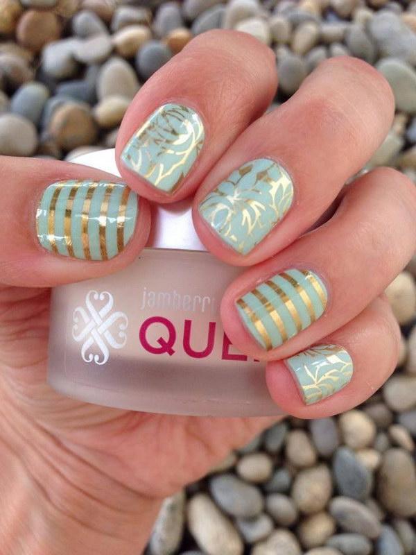 84 green nail art designs - 100+ Awesome Green Nail Art Designs