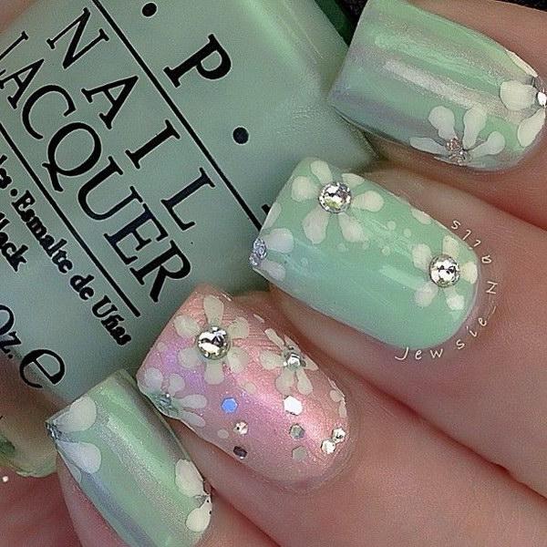 88 green nail art designs - 100+ Awesome Green Nail Art Designs