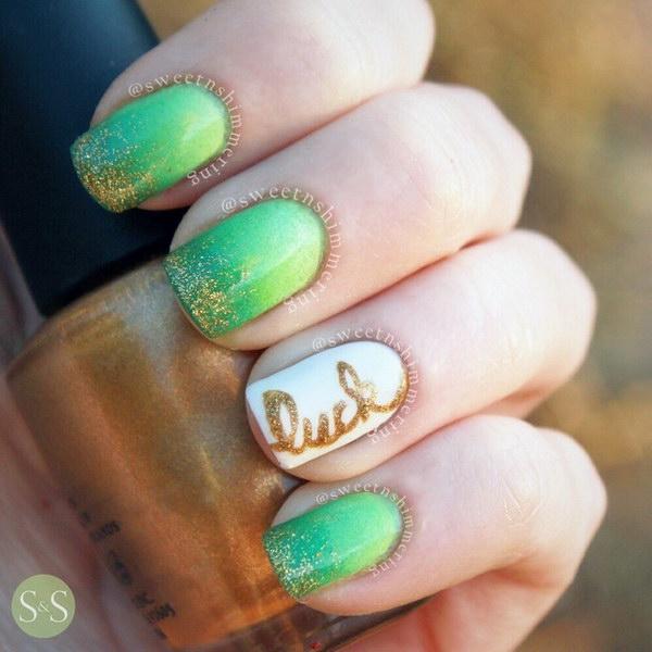 90 green nail art designs - 100+ Awesome Green Nail Art Designs