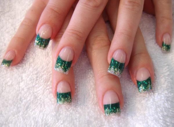 93 green nail art designs - 100+ Awesome Green Nail Art Designs