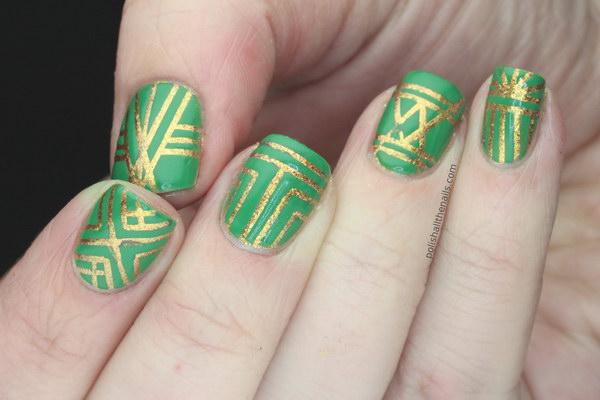 94 green nail art designs - 100+ Awesome Green Nail Art Designs