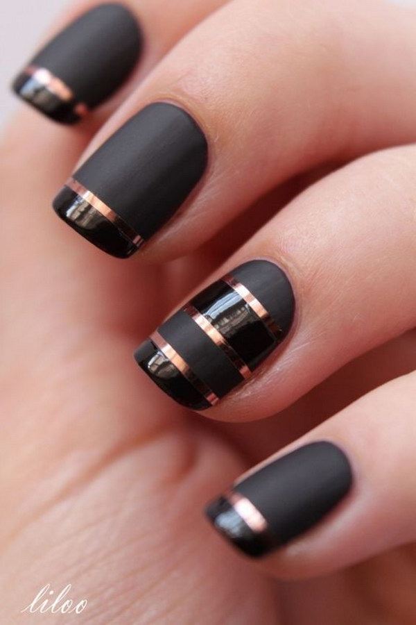 Pink And Black Zebra Nail Designs