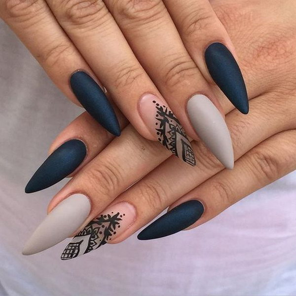 31 matte nail designs - 60 Pretty Matte Nail Designs