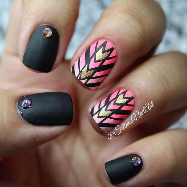 43 matte nail designs - 60 Pretty Matte Nail Designs