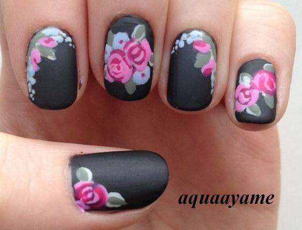 52 matte nail designs - 60 Pretty Matte Nail Designs
