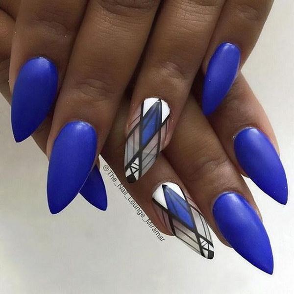 Source Cool Navy Blue Nail Art