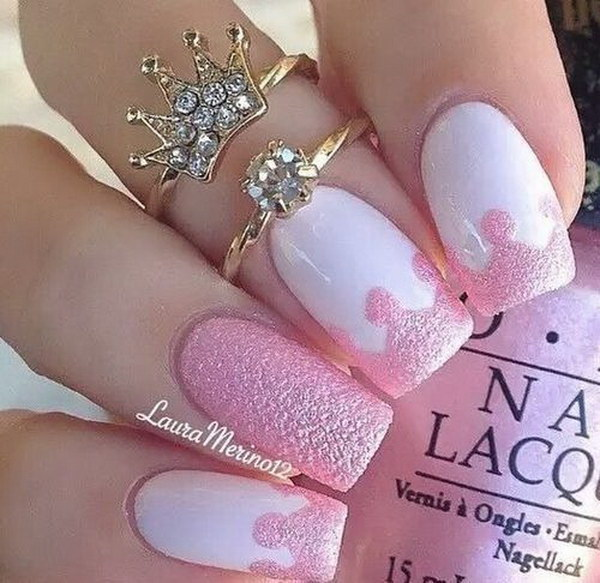 10 pink and white nail art designs - 50 Lovely Pink and White Nail Art Designs