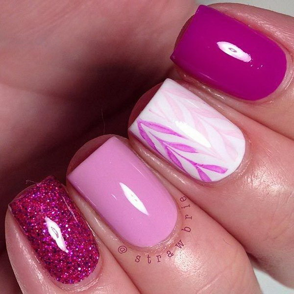 12 pink and white nail art designs - 50 Lovely Pink and White Nail Art Designs