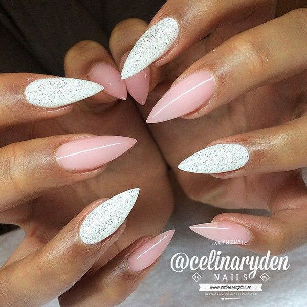 40 pink and white nail art designs - 50 Lovely Pink and White Nail Art Designs