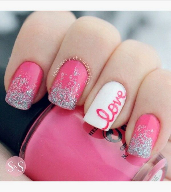 5 pink and white nail art designs - 50 Lovely Pink and White Nail Art Designs