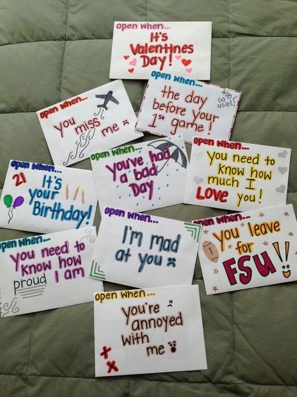 Your When Letters Open Boyfriend Ideas