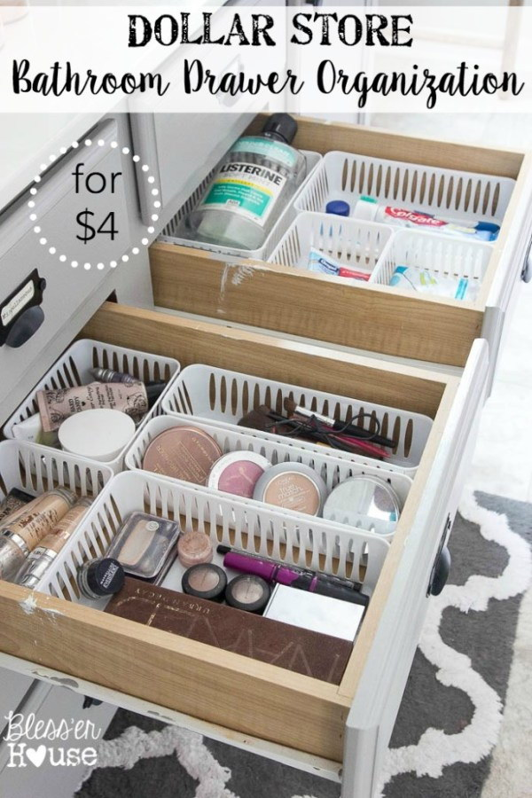 1 dollar store organizing ideas - Cool Dollar Store Organizing & Storage Ideas