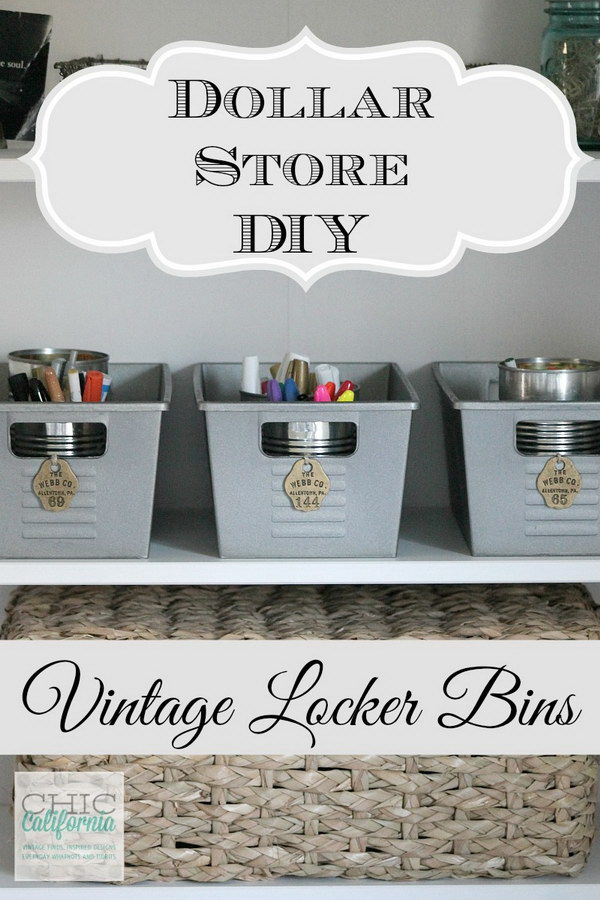 22 dollar store organizing ideas - Cool Dollar Store Organizing & Storage Ideas