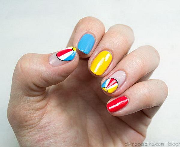 10 beach nail art - 30+ Beach Themed Nail Art Designs