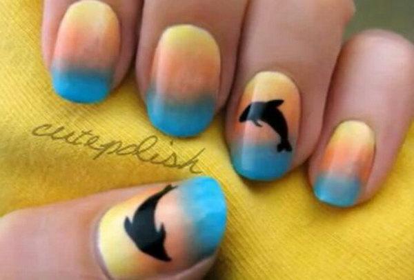 26 beach nail art - 30+ Beach Themed Nail Art Designs