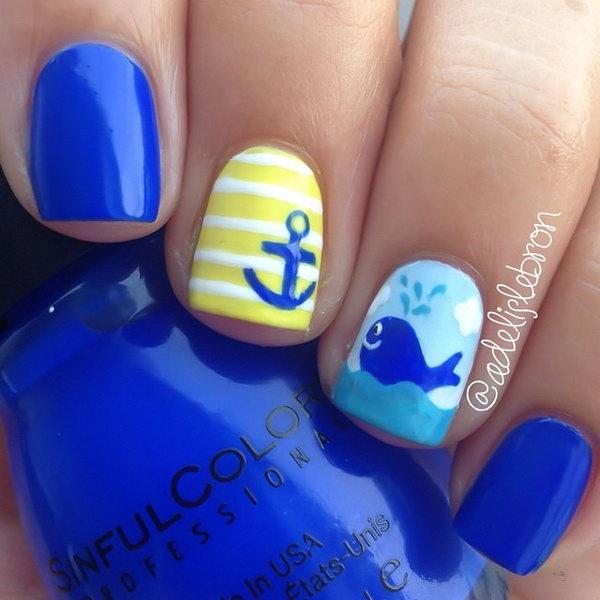 3 beach nail art - 30+ Beach Themed Nail Art Designs