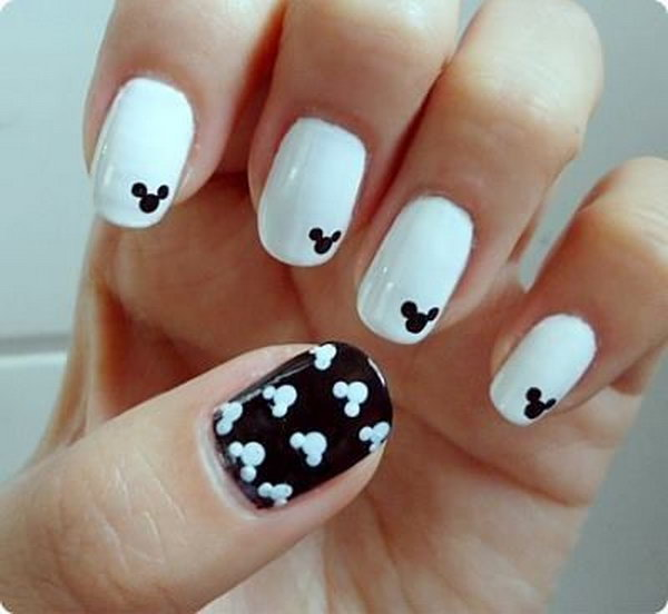 20 black and white nail art - Black and White Nail Art Designs – Perfect Match For Any Parties