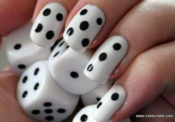 23 black and white nail art - Black and White Nail Art Designs – Perfect Match For Any Parties