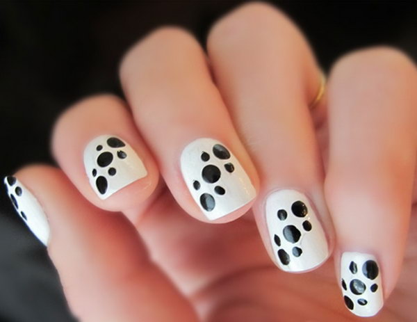 25 black and white nail art - Black and White Nail Art Designs – Perfect Match For Any Parties