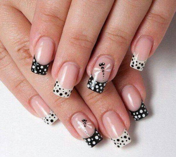 26 black and white nail art - Black and White Nail Art Designs – Perfect Match For Any Parties