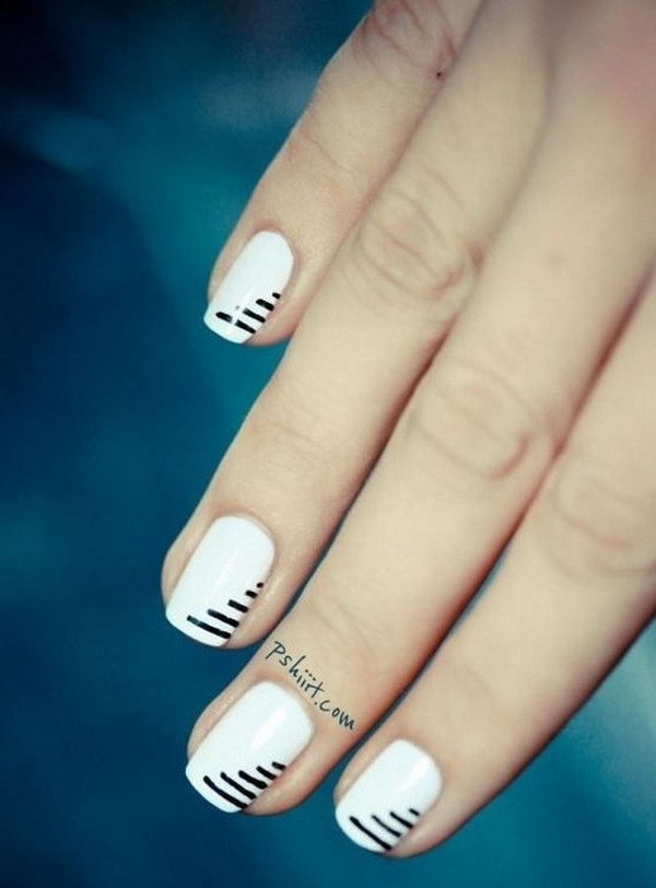 3 black and white nail art - Black and White Nail Art Designs – Perfect Match For Any Parties