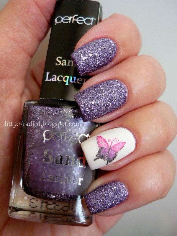 11 butterfly nail art designs - 30+ Pretty Butterfly Nail Art Designs