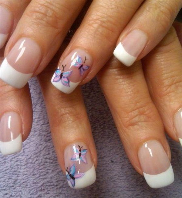 19 butterfly nail art designs - 30+ Pretty Butterfly Nail Art Designs