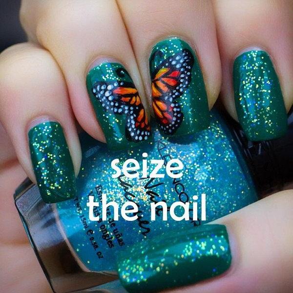 23 butterfly nail art designs - 30+ Pretty Butterfly Nail Art Designs