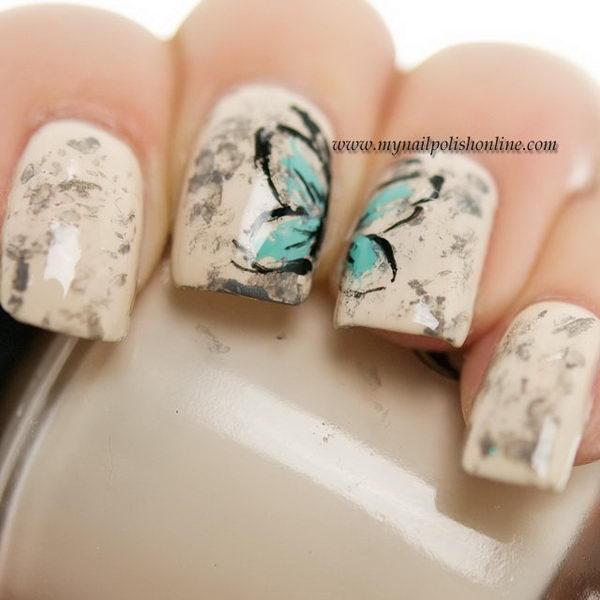 3 2 butterfly nail art designs - 30+ Pretty Butterfly Nail Art Designs