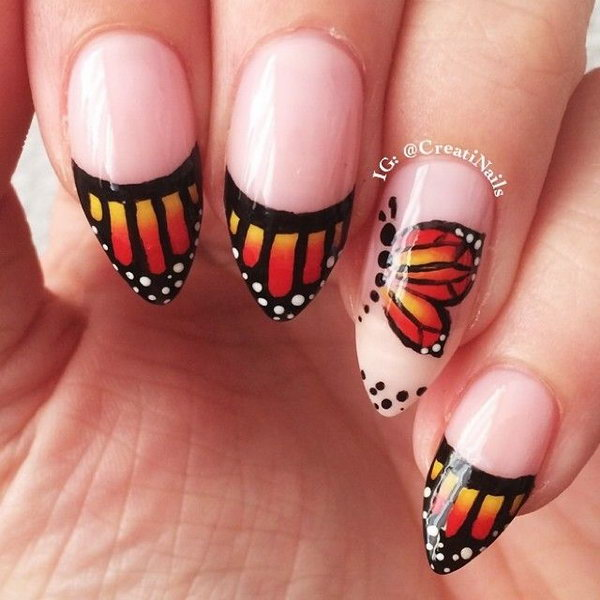 33 butterfly nail art designs - 30+ Pretty Butterfly Nail Art Designs