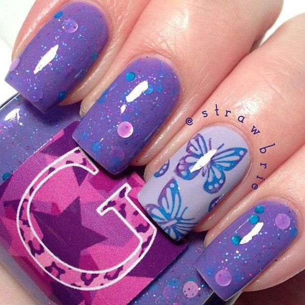 5 butterfly nail art designs - 30+ Pretty Butterfly Nail Art Designs