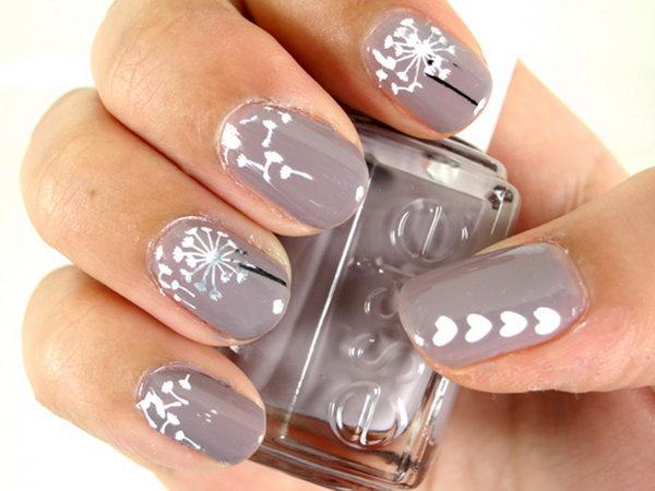 10 dandelion nail art - 40+ Cute Dandelion Nail Art Designs And Tutorials – Make a Dandelion Wish