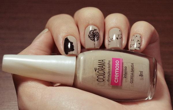 12 dandelion nail art - 40+ Cute Dandelion Nail Art Designs And Tutorials – Make a Dandelion Wish