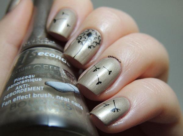 17 dandelion nail art - 40+ Cute Dandelion Nail Art Designs And Tutorials – Make a Dandelion Wish